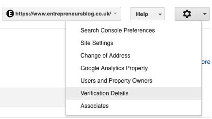 Site Settings option